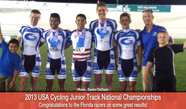 Florida Racer Results from the 2013 USA Cycling Junior Track